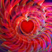 Medical Digital Art - My Heart Is All A Flutter by Michael Durst