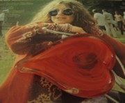 Waldemar Borrero Prints - My heart loves Janis Joplin Print by WaLdEmAr BoRrErO
