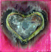 Mixed Media Sculpture Posters - My heavy heart Poster by Jane Clatworthy