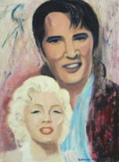 Marylin Paintings - My Heroes by Suzanne  Marie Leclair