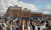 Depicting Paintings - My Hometown by Richard Shook