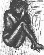 African-american Drawings - My Humble Spirit Base Drawing by Angela L Walker