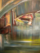 Boats In Water Paintings - My Italy by Jill Morris