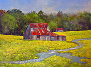 Old Barn Paintings - My Kind of Day by Willis Miller