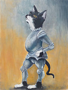 Camelot Paintings - My Kingdom for some Catnip by Robin Wiesneth