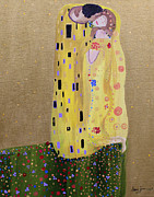 Gustav Klimt. Kiss Posters - My Kiss Poster by Stacey Zimmerman