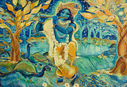 Dream Scape Prints - My Krishna is Blue Print by Ashleigh Dyan Moore