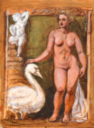 Leda Originals - My Leda and Swan by Dan Hammer