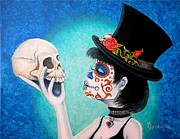 Culture Paintings - My Lil Bella Muerte by Al  Molina
