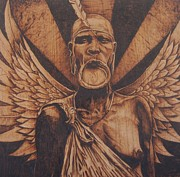 Angel Art Pyrography - My Little Angel by Marlon Ivory