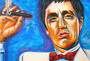 Tony Montana Framed Prints - My Little Friend Framed Print by Susi Franco