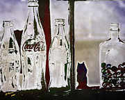 Coca-cola Framed Prints - My Lost Marbles Framed Print by Arne Hansen