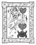 Pen And Ink Drawing Framed Prints - My Love Framed Print by Adam Zebediah Joseph