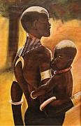 African American Art Pastels Posters - My Love Poster by Stacy V McClain
