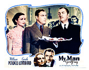 Atcmposterart Posters - My Man Godfrey, Center Gail Patrick Poster by Everett