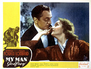 Lobbycard Prints - My Man Godfrey, William Powell, Carole Print by Everett
