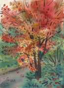 Autumn Foliage Paintings - My Maple by Donald Maier