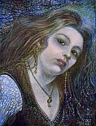 Egg Tempera Painting Metal Prints - My Mermaid Christan Metal Print by Otto Rapp