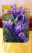 Flowers Sculpture Prints - My mini irises Print by Raya Finkelson