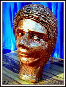 Stones. Sculpture Prints - My Model Face Print by Anand Swaroop Manchiraju