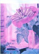 My Morning Blues Print by Anne-Elizabeth Whiteway