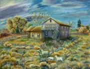 Wyoming Paintings - My Mothers House version two by Dawn Senior-Trask