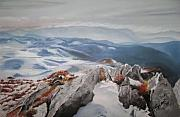 Winter Sports Pastels - My Mountain by Meliha Bisic