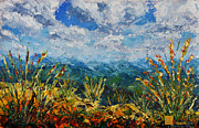Landscapes Reliefs - My new landscape oil painting for SALE  SUMMER IN MOUNTAINS by Valery Rybakow