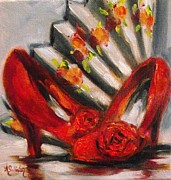 Stillettos Paintings - My New Shoes by Angela Sullivan