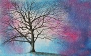 Lavender Drawings Originals - My Oak Tree by MaryAnn Stafford