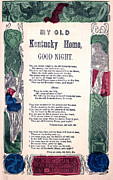 Old Sheet Music Posters - My Old Kentucky Home, Good Night Poster by Everett