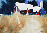 Barn Yard Prints - My Old Kentucky Home  Print by William Tockes