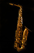 Jean Noren Metal Prints - My Old Sax Metal Print by Jean Noren