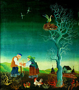 Gardener Posters - My Old Village  Poster by Leon Zernitsky