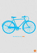 Happy Digital Art Posters - My Other Car Is A Bike  Poster by Irina  March