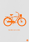 Whimsical Art Posters - My other car is bike Poster by Irina  March