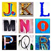 Best Sellers - Featured Art - my own alphabet J to R by Julie Gebhardt
