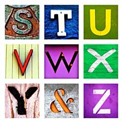 Best Sellers - Featured Art - my own alphabet S to Z by Julie Gebhardt