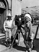 On-set Framed Prints - My Pal, The King, Tom Mix, Jim Thorpe Framed Print by Everett