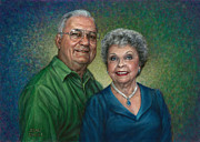 Jane Bucci Art - My Parents Portrait by Jane Bucci