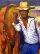 Cow Boy Paintings - My Pony and Me by Ronald Smith