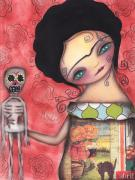 Halloween Paintings - My Puppet by  Abril Andrade Griffith