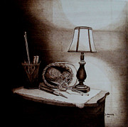 Still Life Pyrography - My Quiet Time by Jo Schwartz