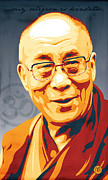 Dalai Lama Framed Prints - My Religion Framed Print by Jeff Nichol