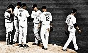 Baseball Originals - My Rock Collection - Colorado Rockies by Marilyn Hunt