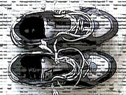Shoe Strings Posters - My Running Shoes Poster by Walter Neal
