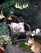 Charity Painting Metal Prints - My secret garden Metal Print by Mary-Lee Sanders