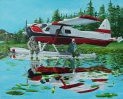 Plane Painting Originals - My Secret Spot by Gene Ritchhart