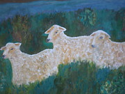 Passover Lamb Framed Prints - My Sheep Framed Print by Beth Sebring
