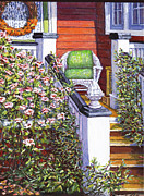 Side Porch Paintings - My Side Porch by Thomas Michael Meddaugh